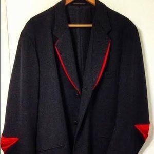 Yohji Yamamoto ( Rare ) red ruched elbow blazer